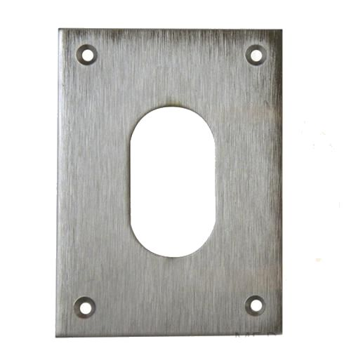 SOUBER LARGE SCREW  ON OVAL ESCUTCHEON